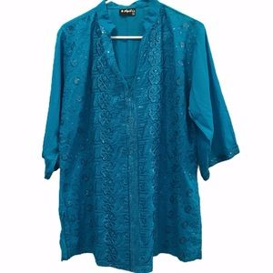 Tops - Indian style blouse embroidery sequins Anjli 1x